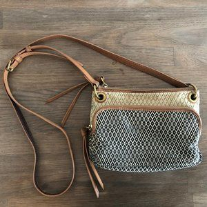 Fossil Crossbody Bag with Leather Detail